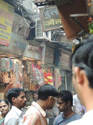 Crowds in Old Delhi