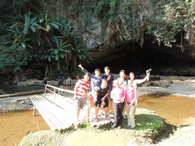 Us at Cave Lod with our new Singaporian friends