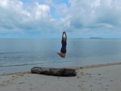 The beach on Turtle Island in Borneo