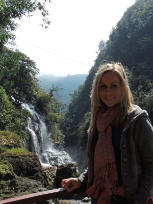 Walk down to Cat Cat village near Sapa - the waterfall