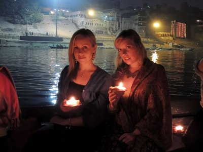 Candle ceremony on the river Ganges