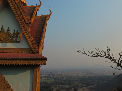 Sunset at Phnom Sampeou - the view