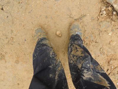 Our 14km hike near Sapa - the result of the mud