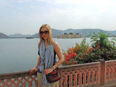 Tam at the Lake Palace in Jaipur