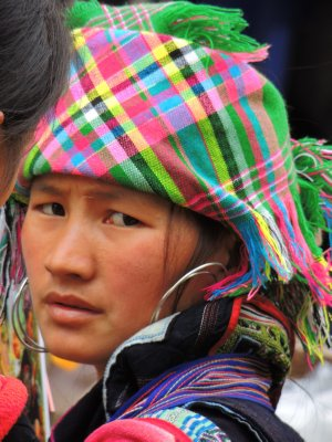 Our 14km hike near Sapa - the local ladies, Zai tribe