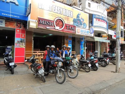 Our Dalat Easy Rider guides, Ted and Tai, and us!