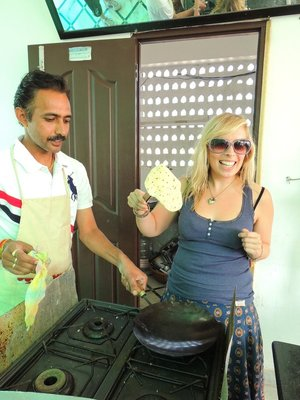Jo making Roti