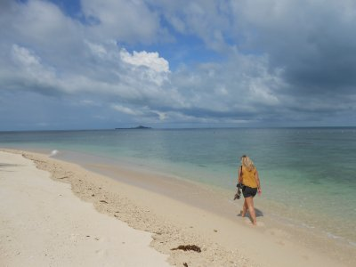 Beach on Turtle Island in Borneo