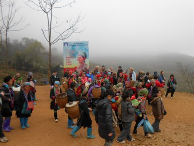 Our 14km hike near Sapa - the start!