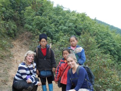Our 14km hike near Sapa - our helpers!