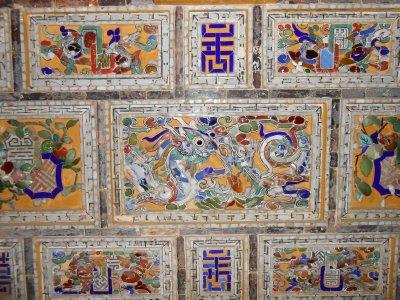 Tiling in Khai Dinh Tomb