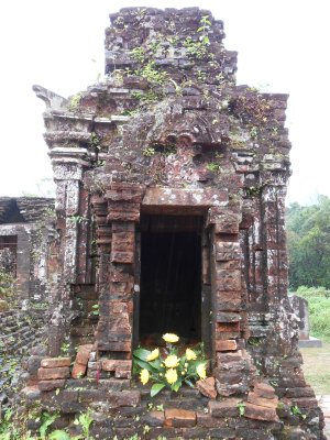 A temple ruin at My Son