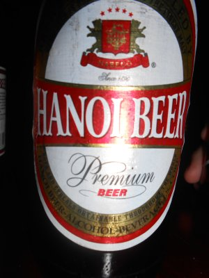 Saigon, Tet - Hanoi beer in Saigon!