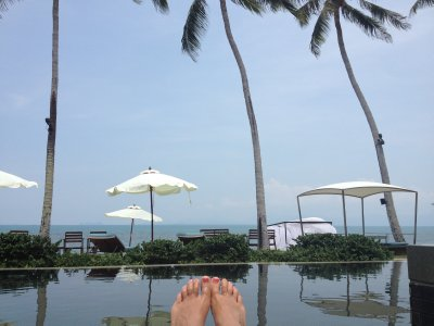 Fancy pants pool on Bang Por Beach, Ko Samui