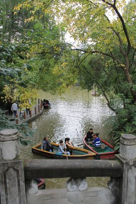 Boats in People's Park, Chengdu