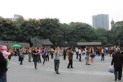 Dancing in People's Park Chengdu