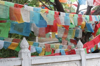 Prayer Flags at th temple at Shangri-La
