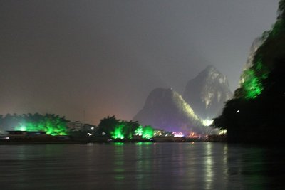 Lights on the karst landscape