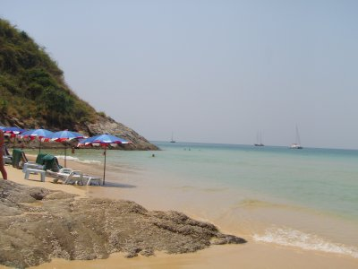 Our little cove at Nai Harn Beach, Phuket