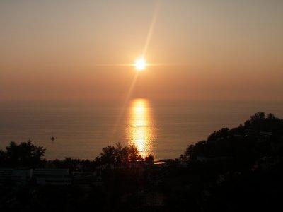 Sunset over Kata Noi Beach, from the Reggae Bar
