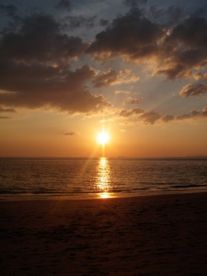 Sunset on Long Beach, Koh Lanta