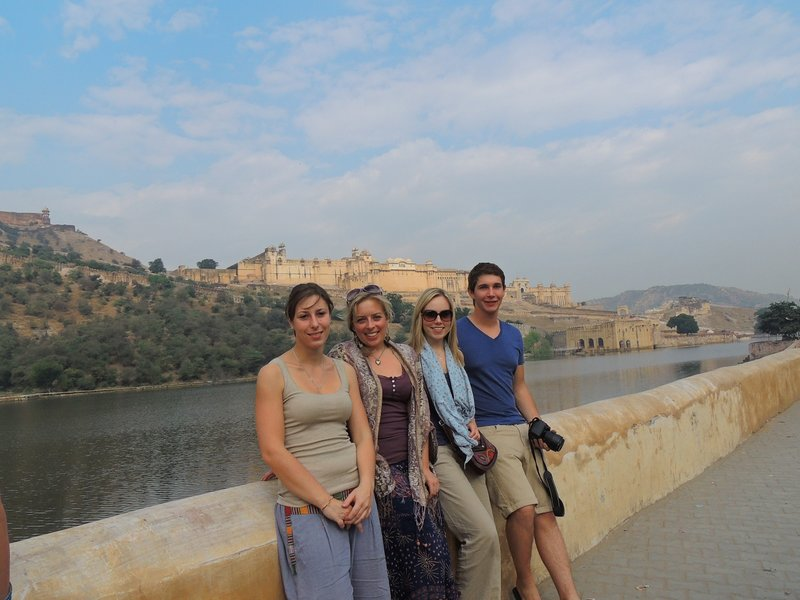 Us with Sarah and Felix at the Amber Fort in Jaipur