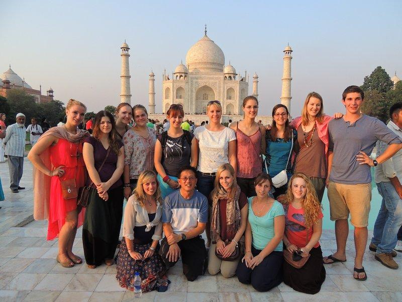 The gang at the Taj Mahal
