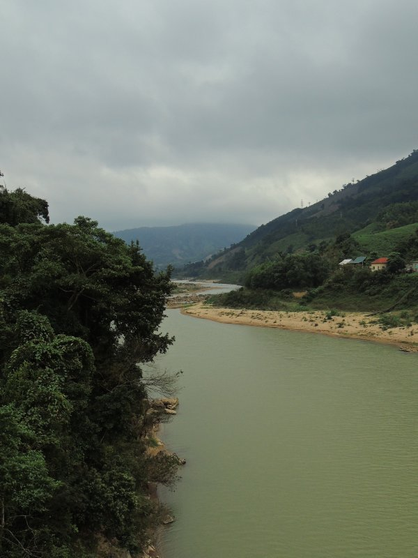 The view from the Dakrong bridge near the start of a Ho Chi Minh Trail