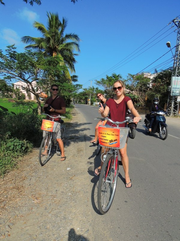 Cycling to the beach