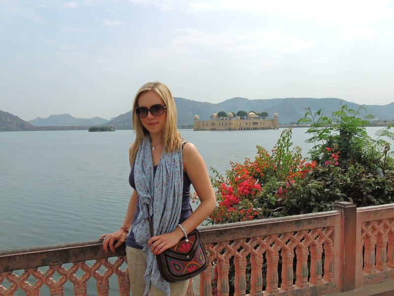 Tam at the Lake Palace in Jaipur