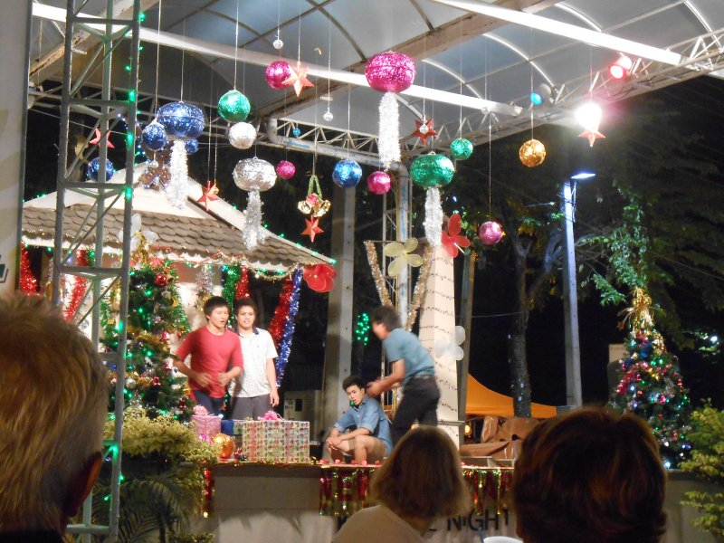 Break dancing in the Night Bazaar in Chiang Mai