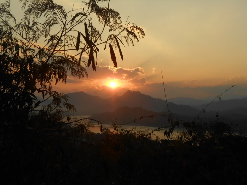 Sunset from Mount Phousi