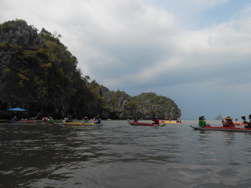 All the people sea kayaking!