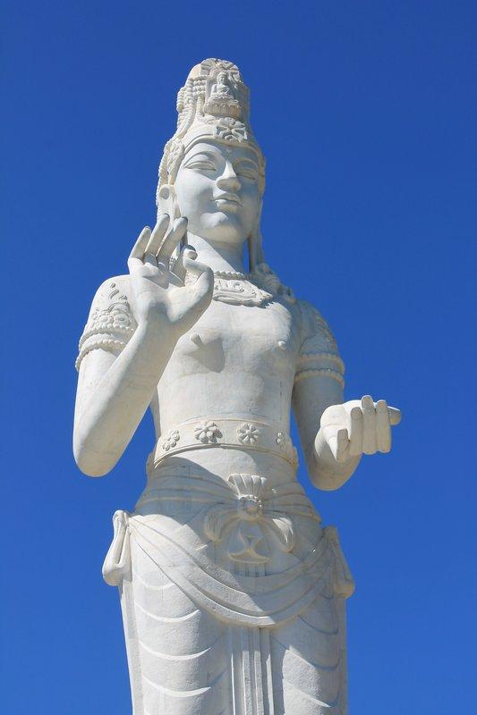 Buddha statue on an island