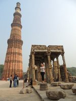 Jo at Qutab Minar