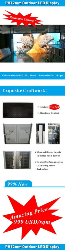 Outdoor LED Display PH12mm under promotion