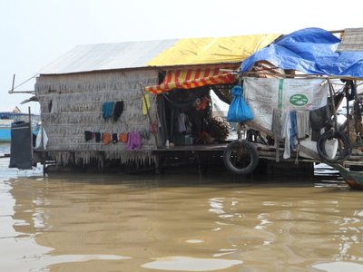 Lake Tonle Sap houseboat