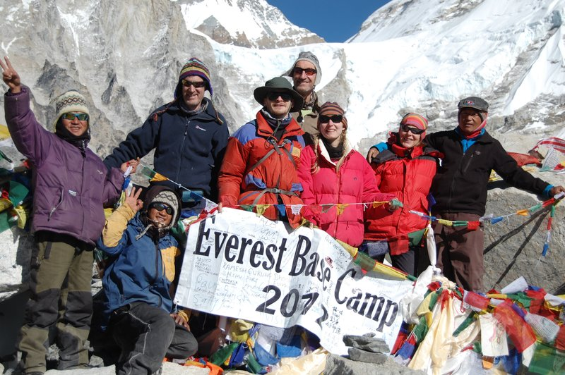 group at base camp