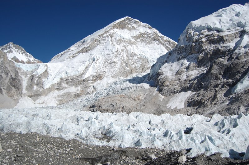 View of the Khumbu ice fall