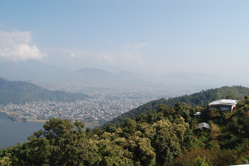 View of Pokhara from pagoda