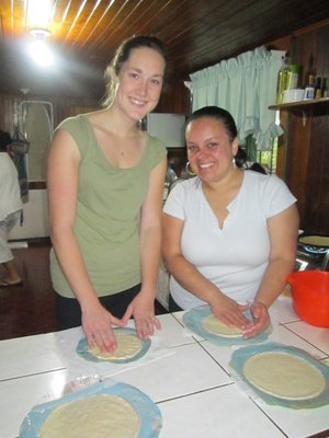 Making tortillas!