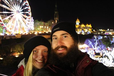 Leah & Rein @Edinburgh Christmas Markets