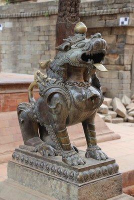 Lion in Bhaktapur Durbar Square
