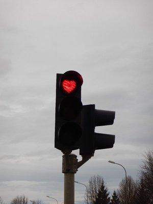 Heart Shaped Traffic Lights