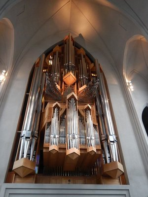 The 5275 organ pipes in the Hallgrimskirkja