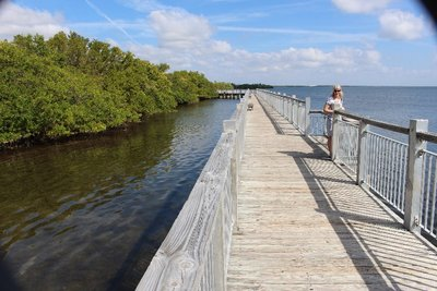 Boardwalk Over Biscayne Bay
