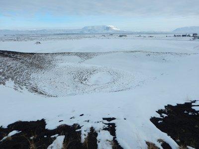 Pseudo crater
