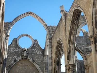 Ruined arches of the Igreja do Carmo, Lisbon