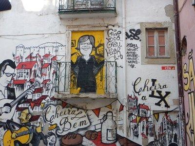 Street art in the Alfama