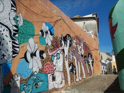 Street Art in the Alfama district of Lisbon